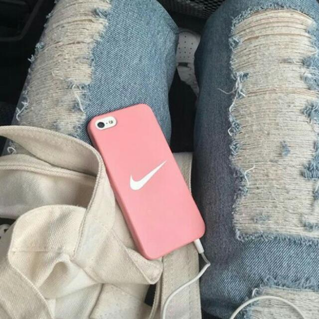 new product 14d62 a5e5f baby pink nike tick phone case