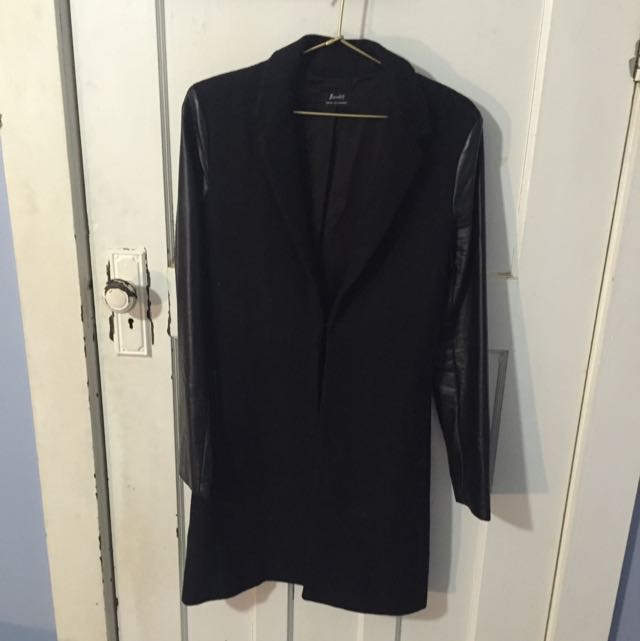 Bardot Black Coat Size 8