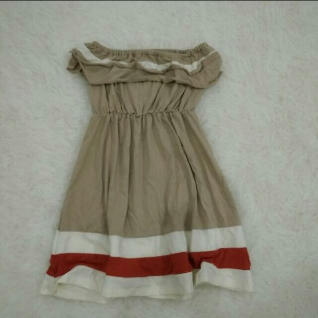 Beach Mini Dress / baju sleveless kemben