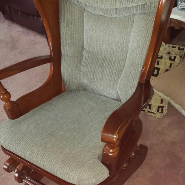 Outstanding Beautiful Rocking Chair And Gliding Ottoman Squirreltailoven Fun Painted Chair Ideas Images Squirreltailovenorg
