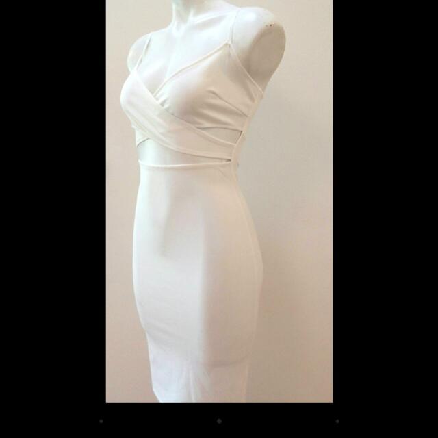Beautiful White Cocktail Dress Size 8