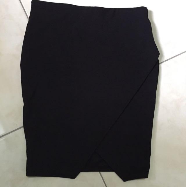 Bershka 黑色 鉛筆裙 A字裙 窄裙 OL