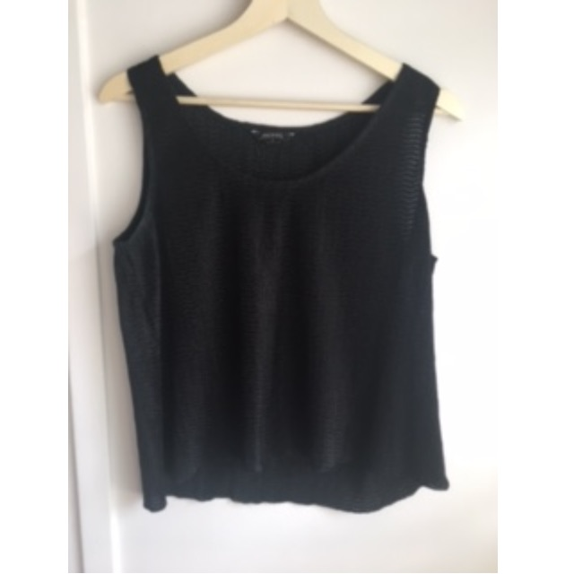 Black top - Textured material, size small
