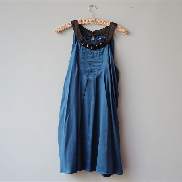Blue Satin Dress By FOREVER21