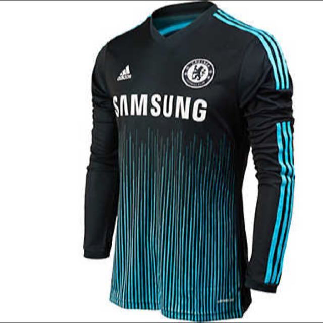 best cheap 237d5 92601 Chelsea 14/15 Third Kit Long Sleeved, Sports, Sports Apparel ...