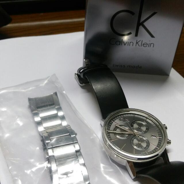 CK 三眼 錶