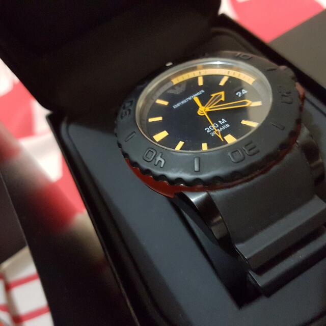 Emporio Armani Watch Sport Black Rubber