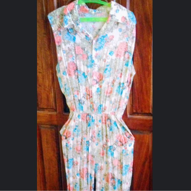 Floral Sleeveless Overall/Jumpsuit