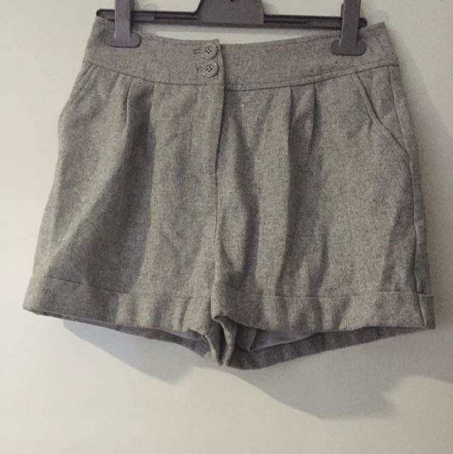 Forever New Wool Glitter Shorts - Size 8
