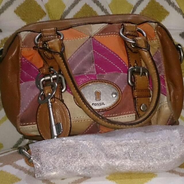 Fossil Maddox Patchwork Satchel Bag Size Small 3e6ef2006f