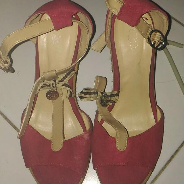 Gosh Wedges Shoes - Pink