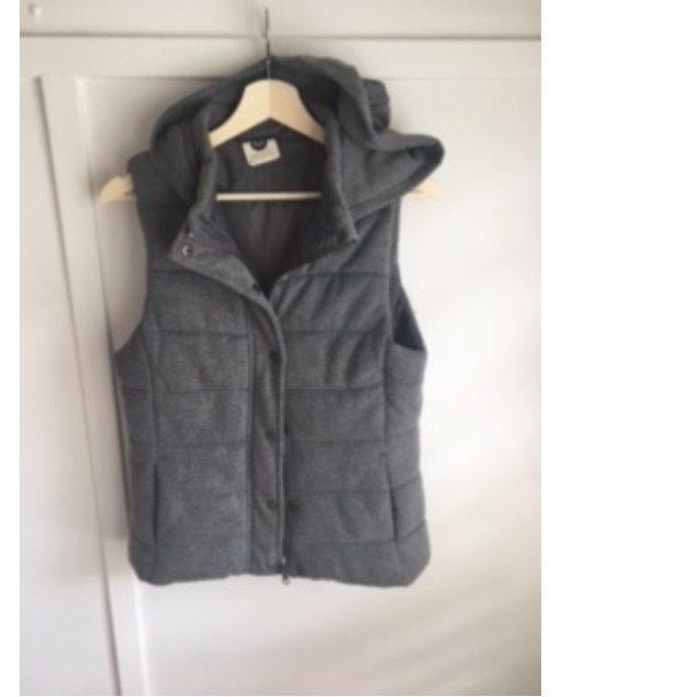 Grey Puffy Vest Activewear