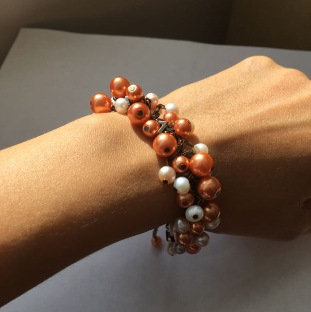 Handmade Duo Colour Beads Bracelet