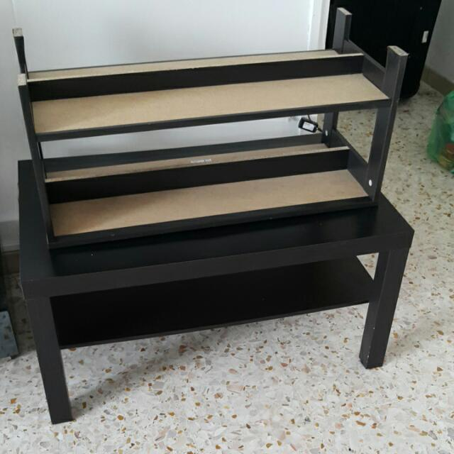 Ikea dark brown tables