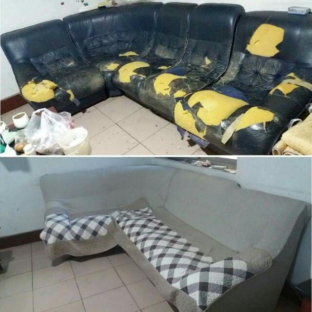 Japan Custom Made Sofa Cover (Waterproof/anti Scratches), Furniture On  Carousell