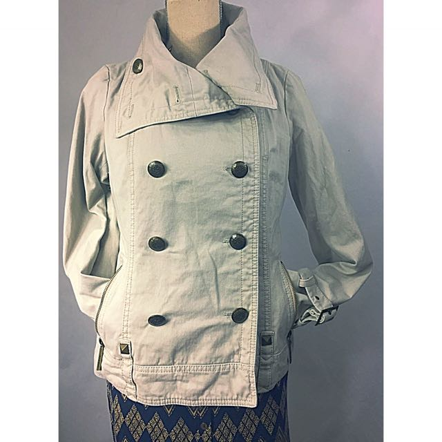 Kensie Buttoned Pea Coat