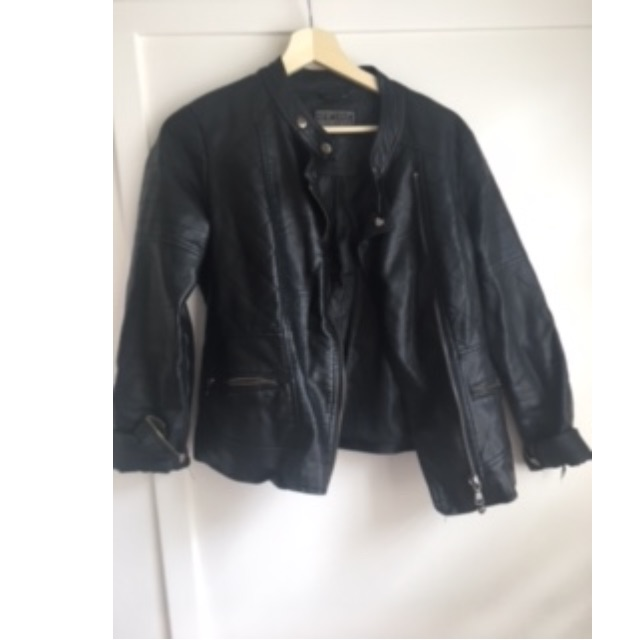 Leather Jacket (Pleather) - Size 10-12