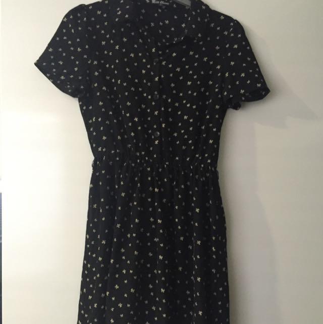 Miss Cherry Bow Dress - Size 10