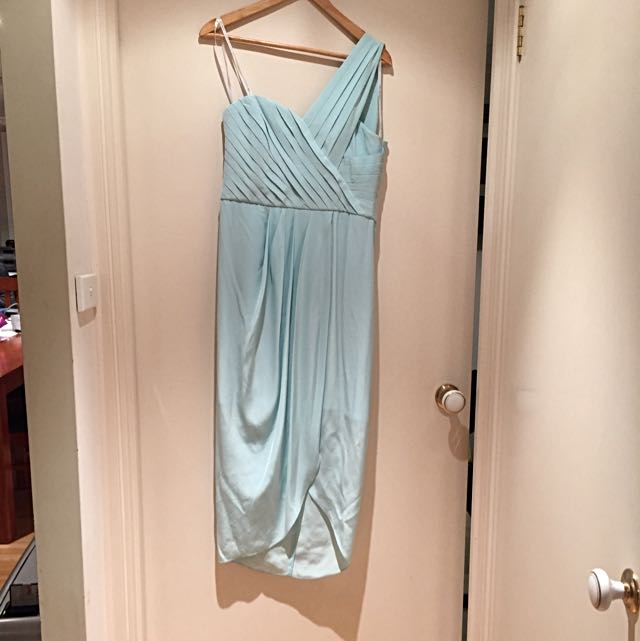One Shoulder Silk Formal Dress