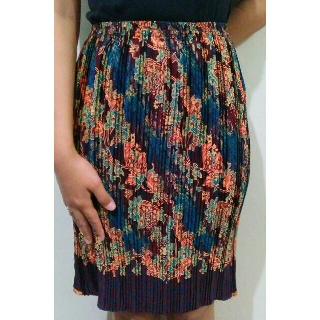 Rok Batik Kerut