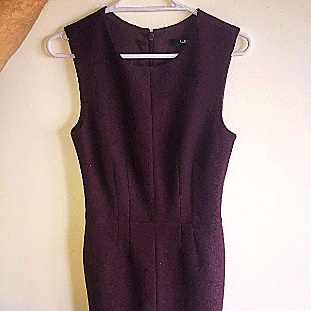 Saba Burgundy Dress