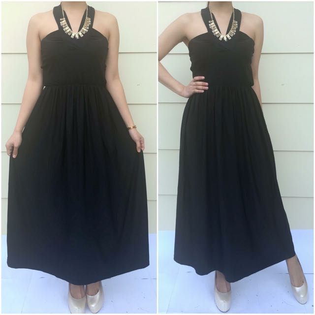 Size 6 Black Haltered Dress