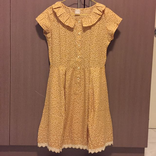 Cute And Chic Yellow Dress