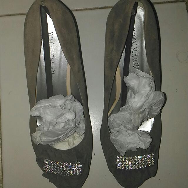 Yongki Komaladi - Grey Velvet Shoes