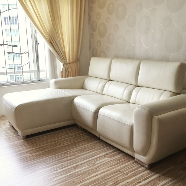 Zolano 3 Seater Leather Sofa Furniture On Carousell