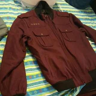 Burgundy Sean John Dress Jacket