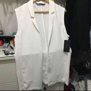 Zara White Vest