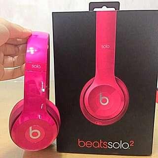 Beat Solo 2 耳機 桃紅 Pink