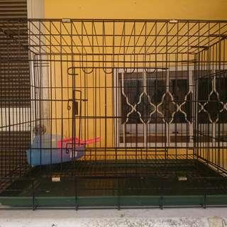 2.5尺 雙門靜電粉體折疊式寵物籠