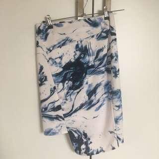 White And Blue Skirt