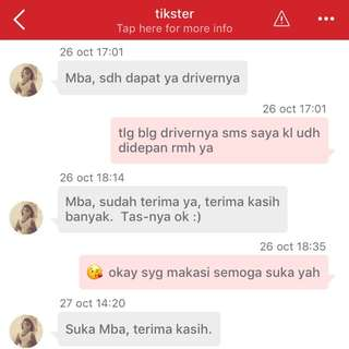 another testi thankyou my lovely cust