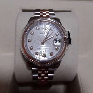 Brandnew Rolex Datejust Pink Jubilee Diamond Dial  Steel and 18k Everose Gold Automatic