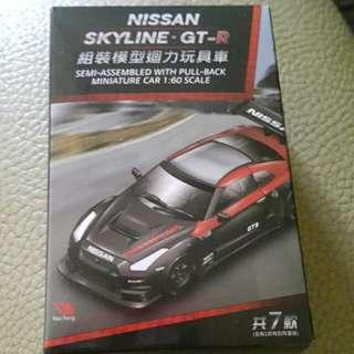 NISSAN組裝模型迴力玩具車