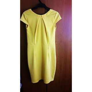 Yellow Office Dress