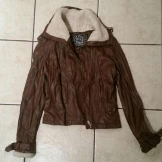 Fall Wool And Leather Jacket S