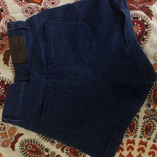 High Waisted Blue Shorts - Country Denim