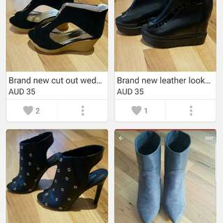 amazing bargain shoes that have never been worn!
