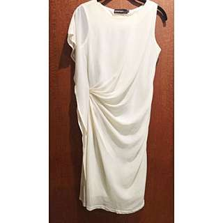 One Shoulder Angel-wing Dress