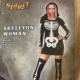 Bodycon Skeleton Dress Costume