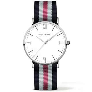 Paul Hewitt Silver Line Nato Blue-White-Pink Watch