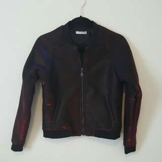 NWOT Mossman Wet-Look Bomber Metallic (Red, Blue & Black)