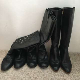 Price Reduced** 3 Pair Of Boots-only $60, Size 38