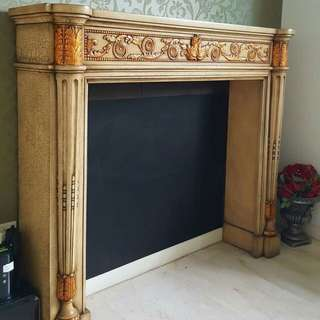 *Clearance* Manhattan Fire Surround in Caisen Gold Finish