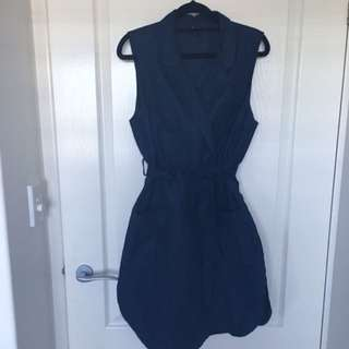 Blue Bardot Dress