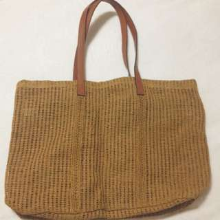 Paper Rope Knit Tote Bag