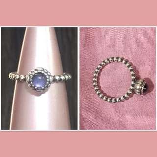 Pandora Size 54 Birthstone Ring